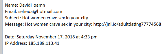 spam from m237.com